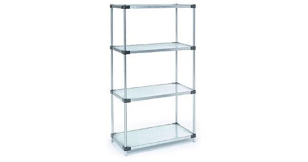 Amazon.com: nexel 4-solid estante estantería, acero ...