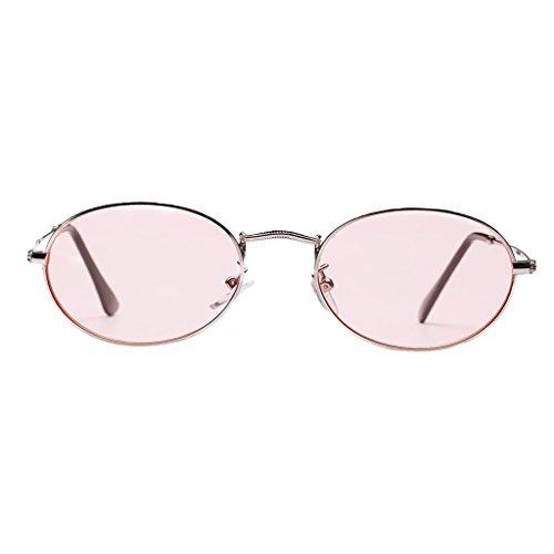 Gafas Dolity Plano Espejo Vintage Rosa Astilla Unisex Mujer de UV400 mm blanca Metal 50 Accesorios Hombre TqrTY