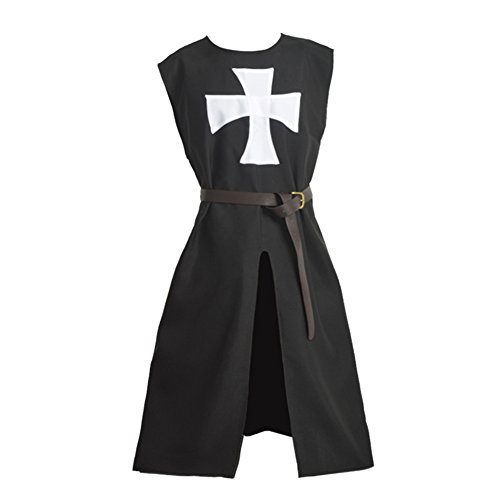 Blessume Hospitaller Knight Tunic Medieval Costume (Mens Crusader Knight Costume)