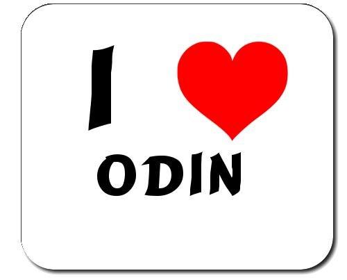 I Love Odin custom mouse pad (first name/surname/nickname)