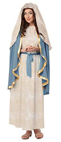 California Costumes Women's The Virgin Mary Adult, Blue/Cream,