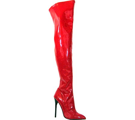 US Red Thigh Heel Women's 12 The PU M High Highest Stretch Sky 31 Boot Patent SH8q7xZXwT