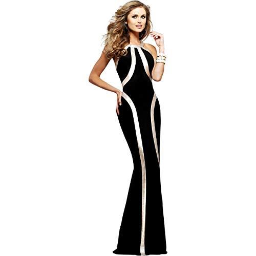 Faviana Womens Prom Sleeveless Evening Dress Black 00