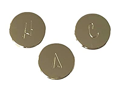 Brass Craft Polished Brass OEM Contessa, Verve and Windsor Index Buttons for Pfister Faucets