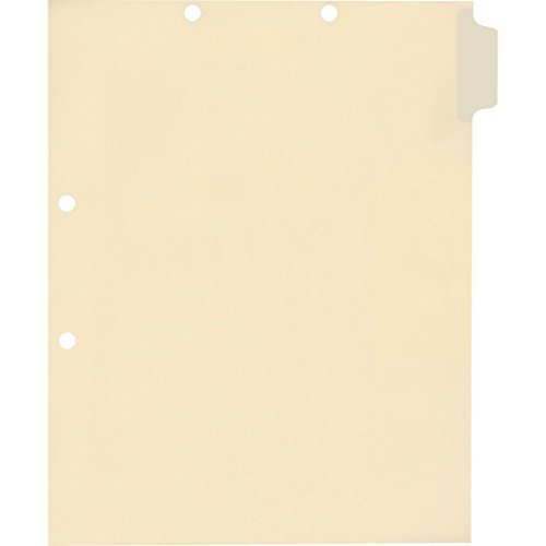 Medical Arts Press Match Write-On Side Tab Chart Dividers- Blank, Position 1 (100/Pkg) ()