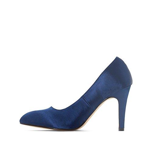 La Redoute Collections Frau Satinpumps Blau