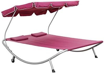 OVASTLKUY Patio Double Chaise Lounge