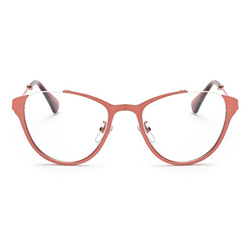 LOMOL Girls Fashion Trendy Cute College Style Transparent Lens Cateye EyeGlasses Plain - Glasses Where Get Fake You Can