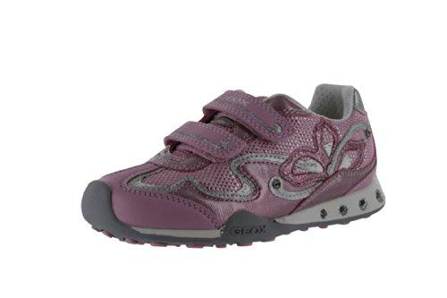 Geox Girls' Jocker G Sneaker,Pink,26