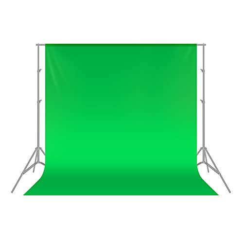 Neewer 1,8 x 2.8M Plegable Telón de Fondo de 100% Pura Muselina para Estudio fotográfico Fondo fotográfico para Fotografía, Vídeo y Televisión (Verde)