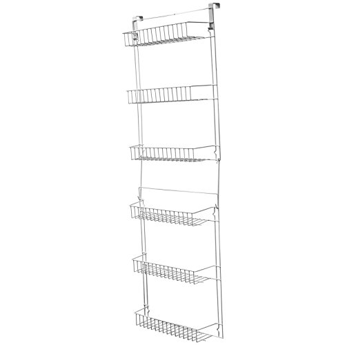 Over Door Kitchen Storage Basket Rack 5 foot 6 shelves Pantry Closet