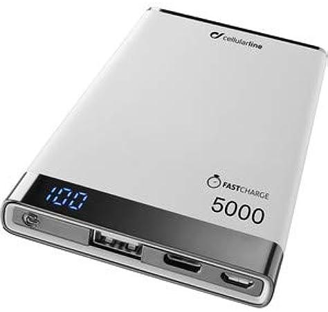 cellularline FreePower Manta S 5000 batería Externa Blanco Polímero de Litio 5000 mAh: Amazon.es: Electrónica