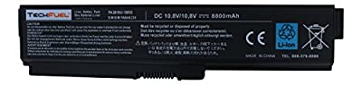 Toshiba PA3819U-1BRS Laptop Battery for Satellite A665-S6050 and more - New TechFuel Professional 12-cell, Li-ion Battery from Techfuel
