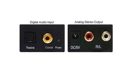 Convertidor digital de audio analógico coaxial óptico Toslink RCA R/L: Amazon.es: Electrónica