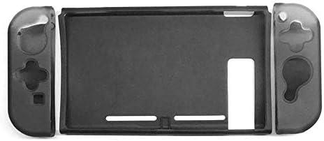 ZBBH 取り外し可能なシェルケースショックプルーフ防止傷TPU保護カバーにNintendスイッチゲームコンソールアクセサリー (Color : Black)