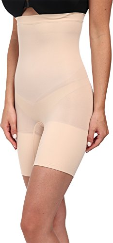 (SPANX Women's Higher Power Shorts, Soft Nude)