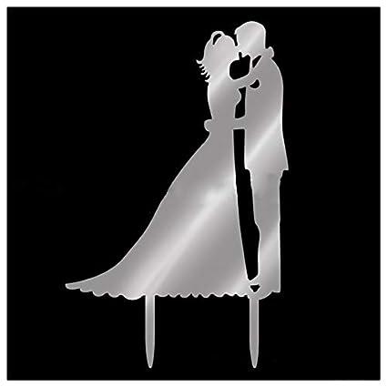 Amazon.com: Tarjeta de felicitación de boda para tartas con ...