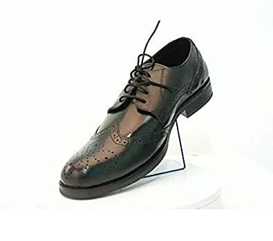 YZ Buyer Black Leather Derby Brogues For Men
