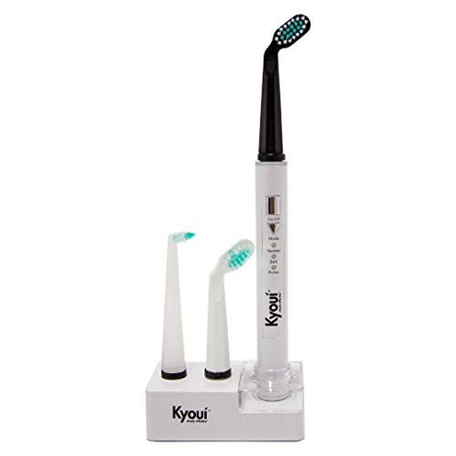 Kyoui Sonic 3000 Electric Toothbrush System | EMF Free Technology | 3 Patented Angled Brush Heads | Powerful 31,000 VPM Motor | Auto-Timer | 3 Modes | Rechargeable