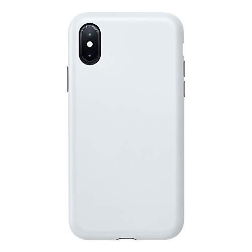 iPhone Xs/X Case, Smooth Touch Hybrid Case for iPhoneXS iPhoneX New iPhone Military-Grade Shock Absorbing Stylish Simple Matte Coating Smartphone Case (Silky White)