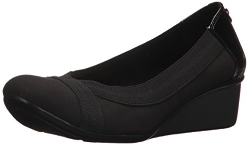 Ak Anne Klein Womens A Day (AK Anne Klein Sport Women's Dani Fabric Pump, Black, 10.5 M US)
