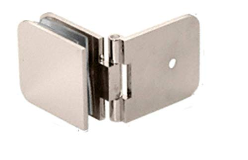 C.R. LAURENCE ADJ037PN CRL Polished Nickel Adjustable Wall Mount Glass Clamp