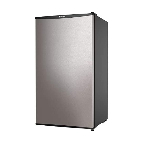 hOmeLabs Mini Fridge – 3.3 Cubic Feet Under Counter Refrigerator with Covered Chiller Compartment – Small Drink Food Storage Machine for Office, Dorm or Apartment with Removable Glass Shelves