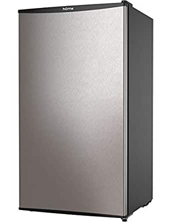 hOmeLabs Mini Fridge - 3.3 cu ft Under Counter Refrigerator with Covered Chiller Compartment - Small Drink Food Storage Machine for Office, Dorm or Apartment with Adjustable Removable Glass Shelves