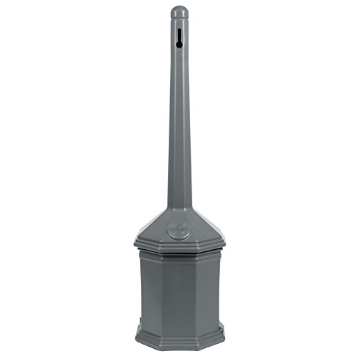 (AborenCo Business Site Saver Cigarette Receptacle Smokers Pole (Grey))