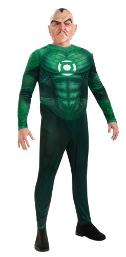 Sinestro Child Mask (Green Lantern Deluxe Sinestro Costumes With Muscle Chest, Green, Large)