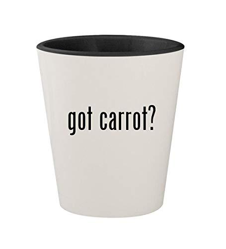 got carrot? - Ceramic White Outer & Black Inner 1.5oz Shot Glass ()