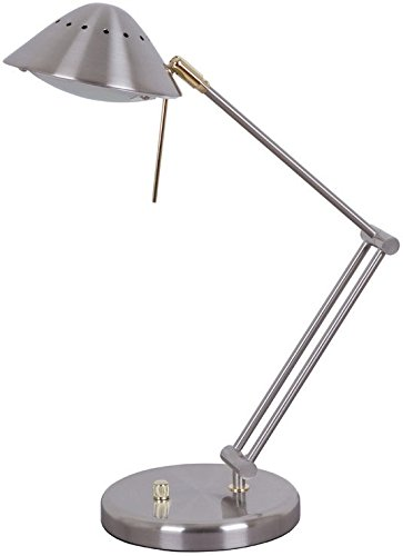 Exceptionnel Living Accents 16534 006 Halogen Desk Lamp, Brush Nickel