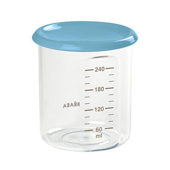 BEABA Maxi Portion Conservation Jars, 240 ml, Tritan Blue
