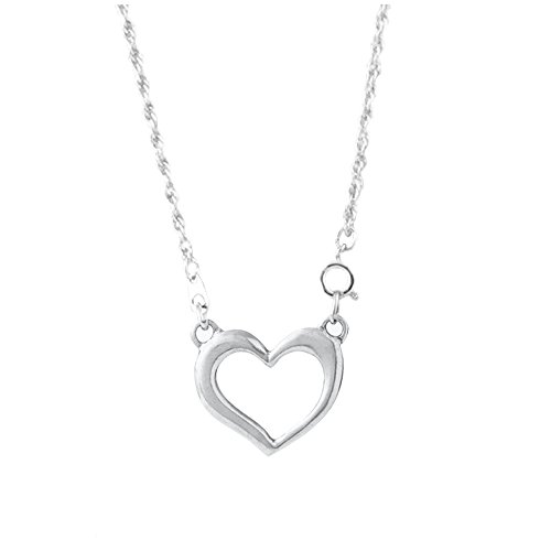 DANFORTH - Heart Eyeglass Necklace - Pewter Heart - 24 Inches - Rope Chain - Handcrafted