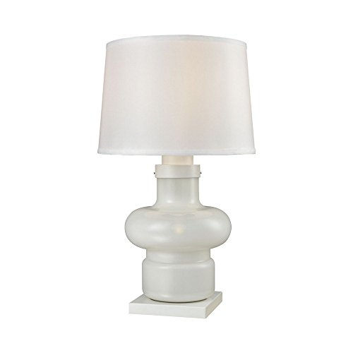 (Dimond Lighting Sugar Loaf Cay 1-Light Outdoor Table Lamp in Milk Glass)