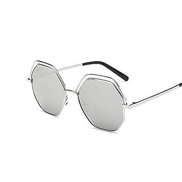 Sonnenbrille Weibliche Mode Sonnenbrille Sonnenbrille , Silber-