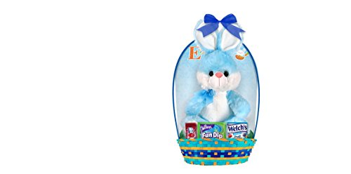 Easter-Filled-Basket-with-Bunny-Plush-and-Candy-Easter-Gift-Basket-for-Boys-Basket-Color-May-Vary