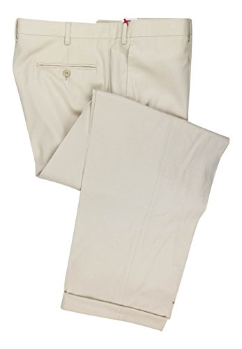 BRIONI Cortina Beige Wool Single Pleat Dress Pants Size 62/46 R