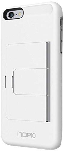 Incipio Stowaway Cover case Gris, Blanco - Fundas para teléfonos móviles (Funda, Apple, iPhone 6 Plus, Gris, Blanco)