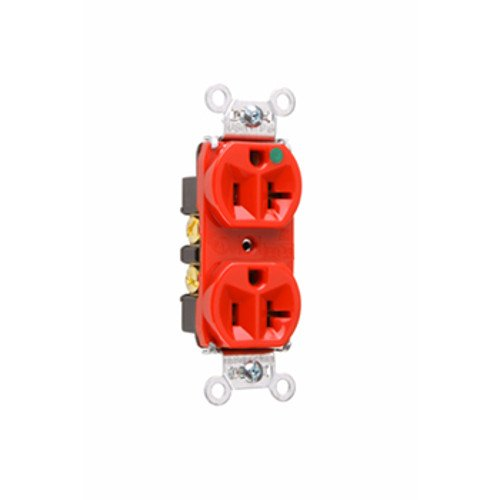 Legrand - Pass & Seymour 8300HRED Pass and Seymour TR-8300HRED-Tamper-Resistant Compact Hospital Grade Duplex Receptacle 20A 125V, (Pass & Seymour Compact Outlet)