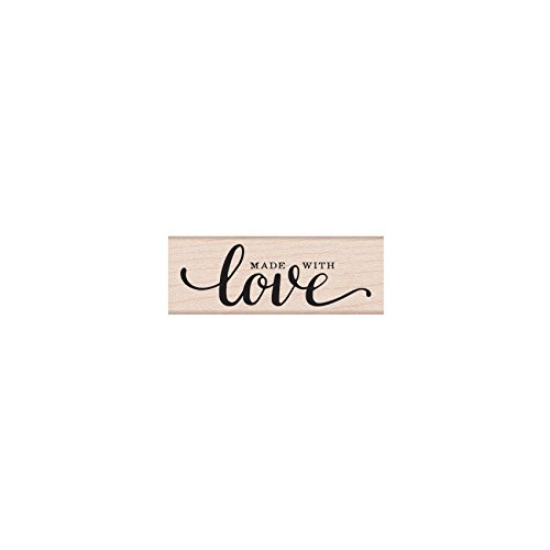 - Hero Arts C6118 Woodblock Stamp, Made with Love Message