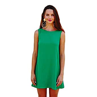 Hipster 2044ld-l Cocktail Dress For Women - L, Green