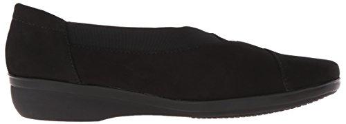 Clarks Womens Everlay Eve Slip-On Loafer Black Nubuck