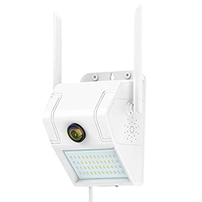 SDETER WiFi Security Camera with Motion Sensor Floodlight Outdoor, 1080P Night Vision Motion Detection Two-Way Talk Waterproof