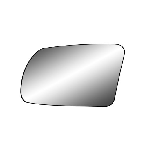 Fit System 88213 Nissan Altima 2.5L Engine Coupe/Sedan Left Side Power Foldaway Replacement Mirror Glass with Backing Plate and Turn (Nissan Altima Mirror Glass)
