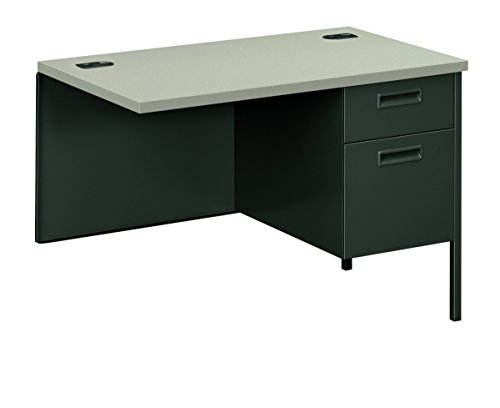 HON HP3235R.G2.S Metro Classic Charcoal Finish Right Return with 1 Box/1 File Drawer, 42''W, Gray by HON