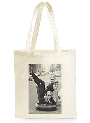 Andy Warhol And Edie Sedgwick, Shopping Tote Bag for Shopping, Picnic, Home Storage and School