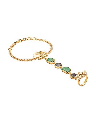 Voylla Women's Classy Gold Tone Beautiful Stone Studded Slave Bracelet by Voylla