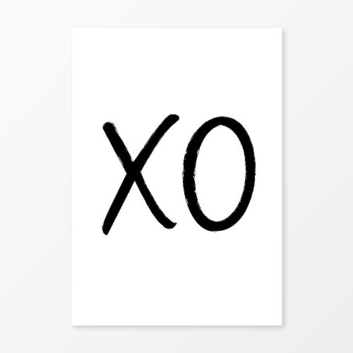 XO Poster, Size 5x7, 8x10, 11x14, A5, A4 or A3, Perfect Home Decor Wall Art or Gift Idea