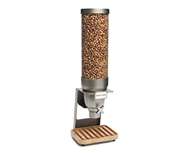 Rosseto ez550 ez-serv único recipiente dispensador de cereales de mesa con bandeja de bambú